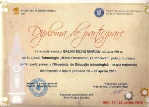 Diploma Ok MArian Galan